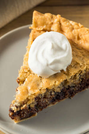 Homemade Chocolate Walnut Derby Pie with Whipped Cream