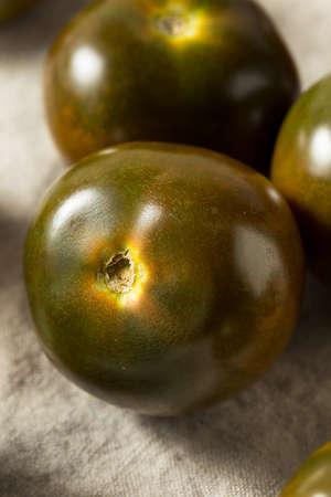 Raw Brown Organic Kumato Tomatoes Ready to Eat