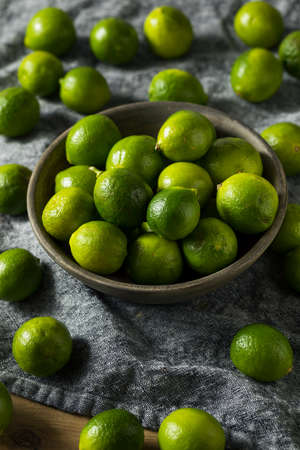 Raw Green Organic Key Limes Ready to Eat