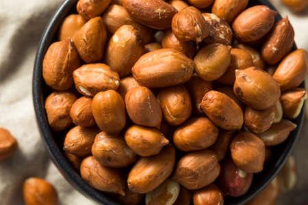 Raw Brown Organic Spanish Peanuts Ready to Eat