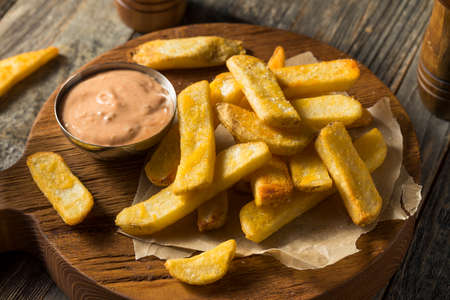 Idaho Fry Sauce with French Fries Ready to Eat