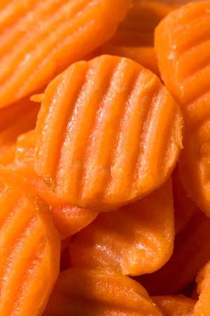 Raw Orange Organic Carrot Chips Cut into Slices Reklamní fotografie