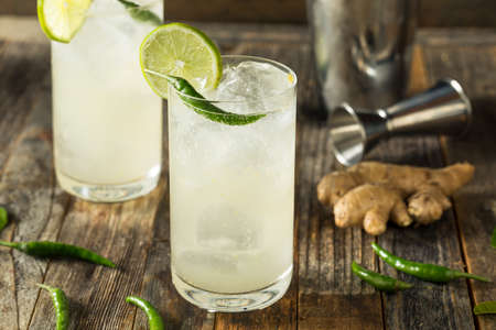 Refreshing Rum Thai Siam Sunray with Lime and Pepper