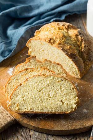 Homemade Simple Irish Soda Bread Ready to Slice