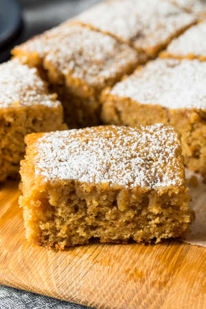 Homemade Sweet Applesauce Cake with Powdered Sugar