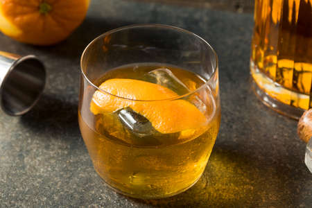 Boozy Japanese Whiskey Old Fashioned with an Orange Peel