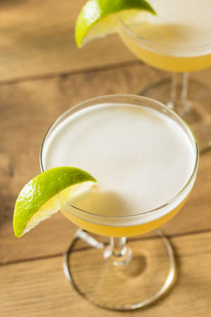 Refreshing Boozy Gin Gimlet with Lime and Sugar