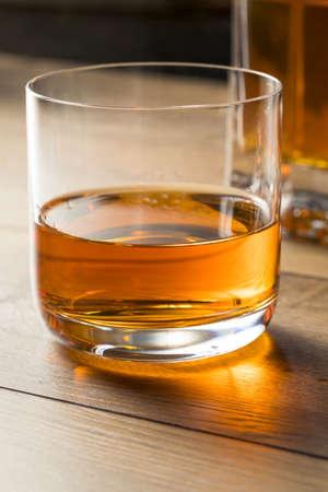 Boozy Alcoholic Whiskey Neat in a Rocks Glass