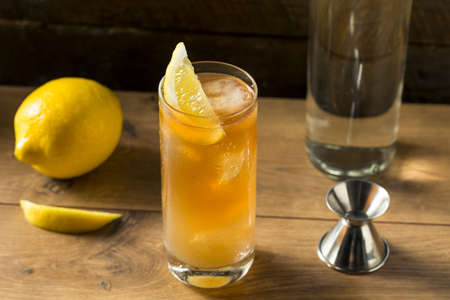 Boozy Long Island Iced Tea Cocktail with Lemon