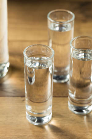 Strong Boozy Russian Vodka Shots Ready to Drink