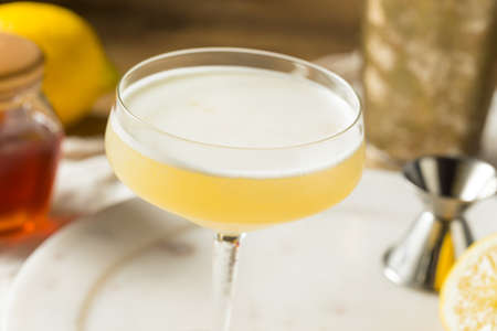 Boozy Bees Knees Gin Cocktail with Lemon