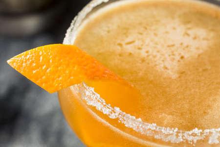 Boozy Orange Sidecar Cocktail with a Sugar Rim