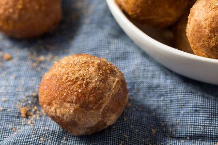 Homemade Fried Cinnamon Sugar Donut Holes Ready to Eat