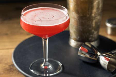 Boozy Refreshing Rye Scofflaw Cocktail with Lemon and Grenadine