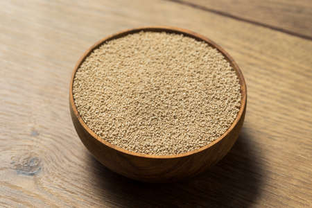 Dry Organic Active Dry Yeast in a Bowl