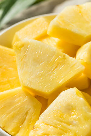Healthy Organic Pineapple Slices Ready to Eat