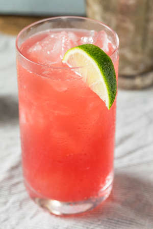 Refreshing Boozy Vodka Bay Breeze Cocktail with a Lime