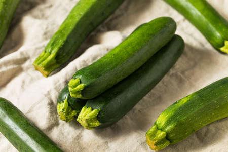 Organic Ripe Green Zucchini Squash Ready to Eat