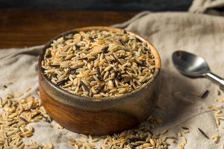 Raw Dry Organic Wild Rice in a Bowl
