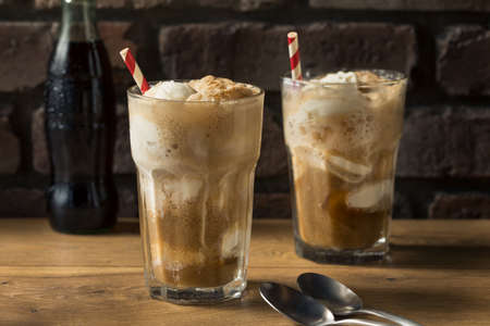 Homemade Brown Cow Ice Cream Float with Cola