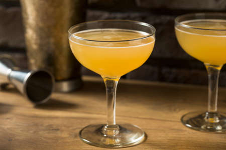 Boozy Refreshing Cognac Between the Sheets Cocktail with Rum and Lemon