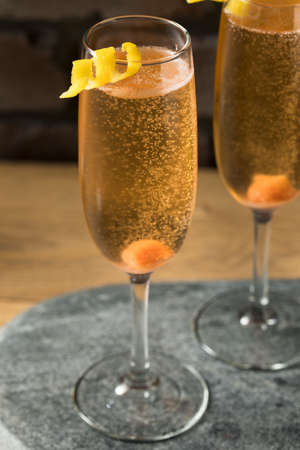 Boozy Refreshing Champagne Cocktail with Sugar and Bitters