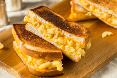 Homemade Grilled Macaroni and Cheese Sandwich Ready to Eat
