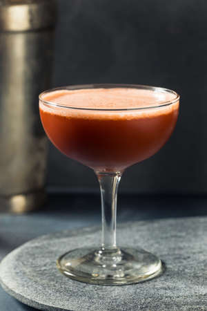 Boozy Refreshing Angostura Sour with Lime in a Coupe