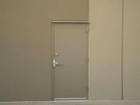 Steel door into office Stock Photo