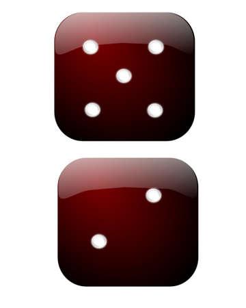 dice showing score of 7 Illusztráció
