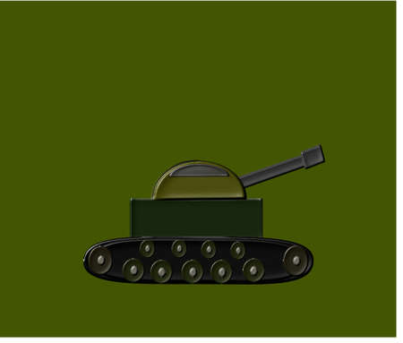 Army tank on olive background