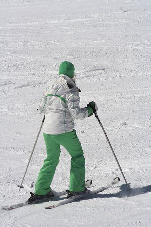 female skier photo