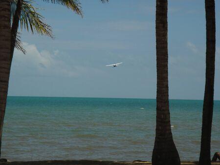 tropical island plane take-off
