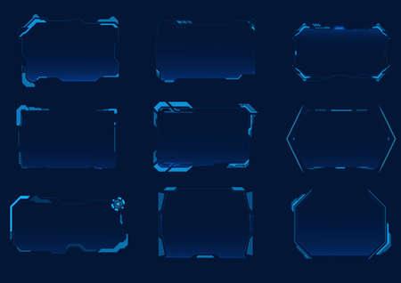 Futuristic HUD interface collection
