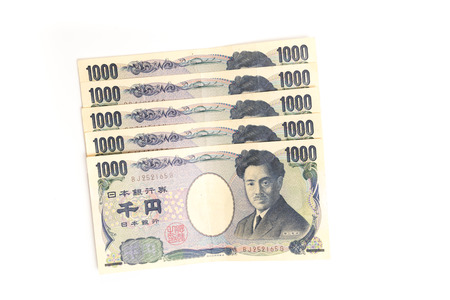 japanese currency: Japanese currency banknotes, 1,000 YEN isolated Stock Photo