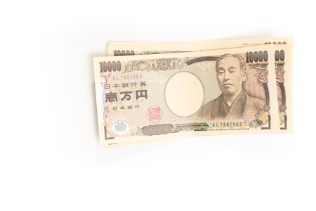yen note: Japanese YEN currency banknotes isolated