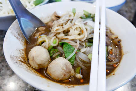 boat noodle thai food Stockfoto