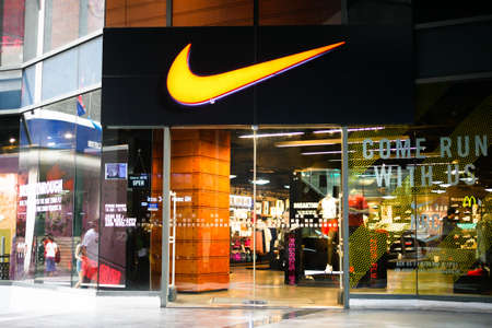 BANGKOK, THAILAND - JANUARY 11, 2018: Nike Shop is opening at Siam Square One Shopping Mall, the popular mall that located in Siam Sqaure.