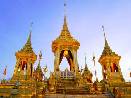 BANGKOK, THAILAND - DECEMBER 30, 2017: Royal cremation ceremony of His Majesty King Bhumibol Adulyadej at Sanam Luang Ceremonial Ground in Bangkok, Thailand
