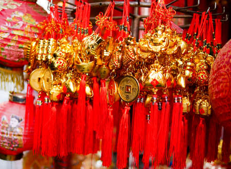 Close up of Lucky hanger in the market for Chinese New Year
