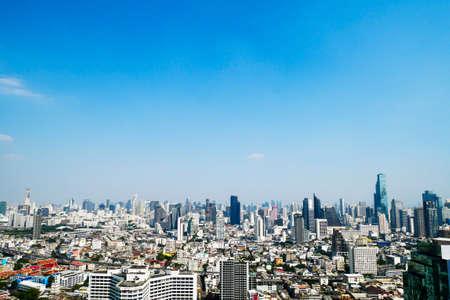 beautiful panorama cityscape of Bangkok city,Thailand