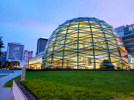BANGKOK, THAILAND - MAY 23, 2020: King Power Rangnam, the biggest duty free mall in Thailand's .it's leading travel retail group, based in Bangkok. The chairman and CEO was Vichai Srivaddhanaprabha Sajtókép