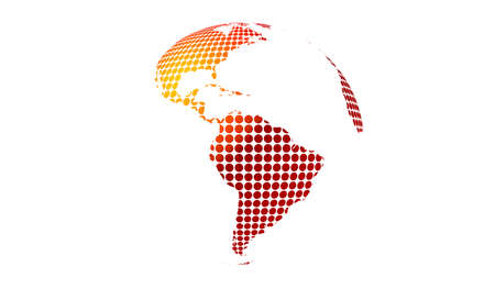 red yellow Dotted earth globe