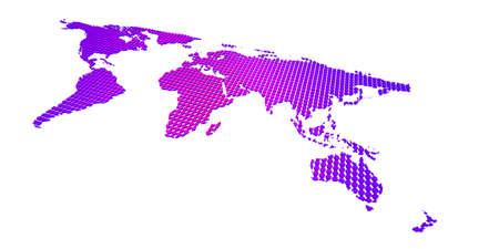 blue violet dotted world map