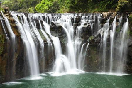 台湾の美しい滝 写真素材