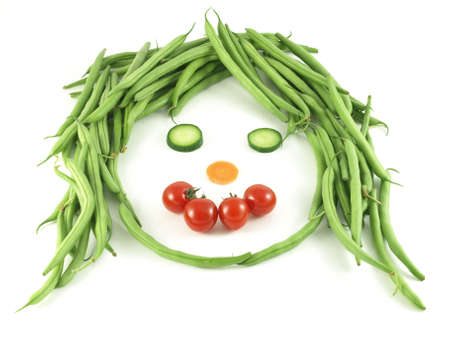 funny tomatoes: Vegetable funny face