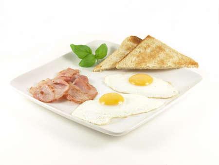 english breakfast: English breakfast - eggs and bacon