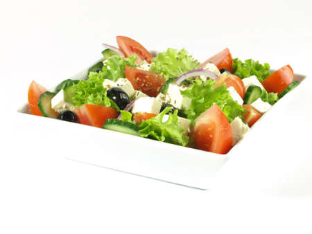 Low-fat salad with nutrition photo