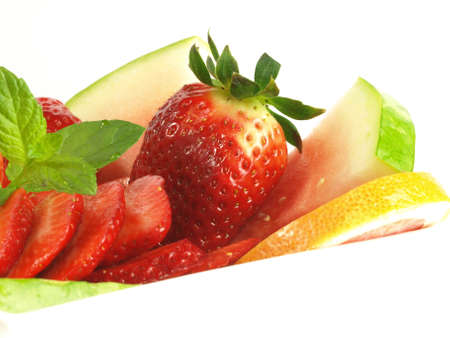 Close-up of juicy and fresh fruits  photo