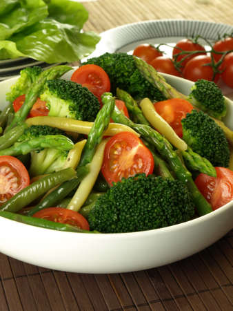 Dietary vegetable mix for vegetarians photo